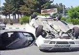 باشگاه خبرنگاران -واژگونی خودروی سواری در مشهد + فیلم