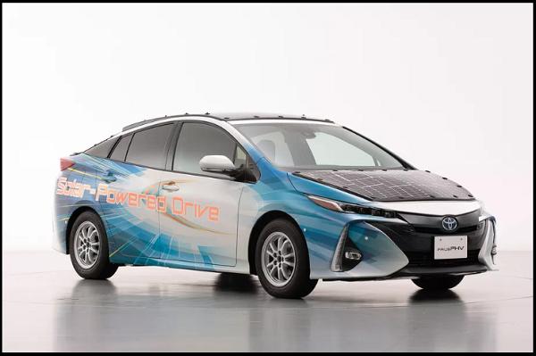 نسل آینده خودروهای الکتریکی تویوتا با سقف خورشیدی