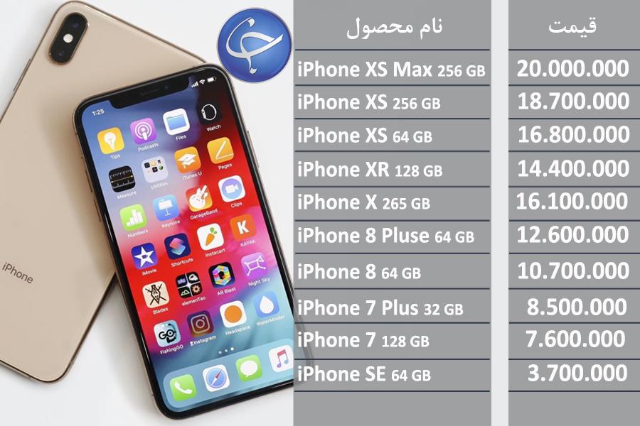 آخرین قیمت تلفن همراه در بازار (بروزرسانی ۱۶ تیر) +جدول