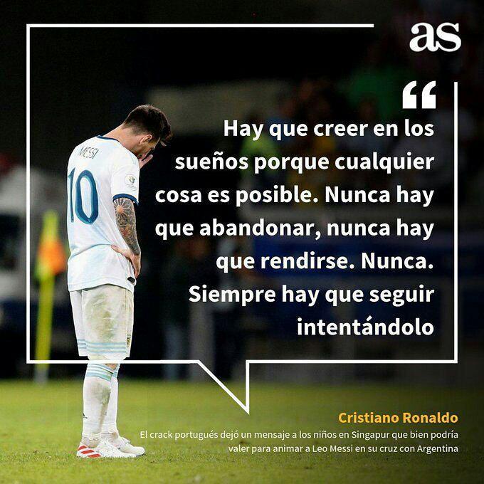 نامهی جالب کریستانو رونالدو به لیونل مسی