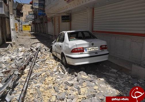 زلزله در مسجدسلیمان ویرانی به بار آورد+تصاویر