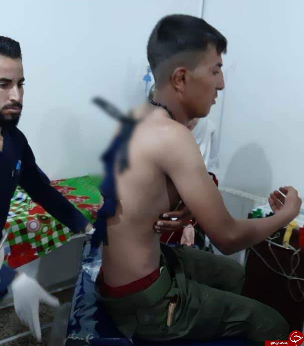 حمله وحشتناک زن داعشی با چاقو به نگهبان سوری + تصاویر