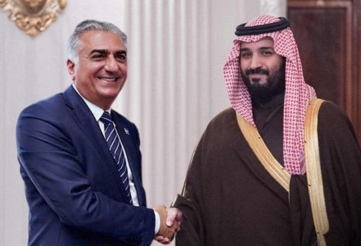 چرا پسر شاه فراری ایران بن سلمان را در آغوش گرفت؟