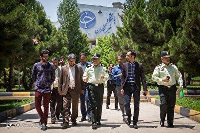 بازدید رئیس پلیس پایتخت از باشگاه خبرنگاران جوان