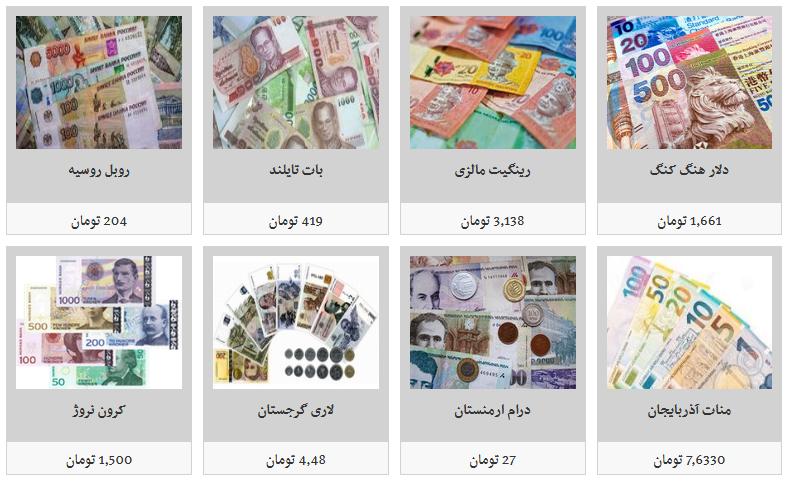 جدیدترین قیمت تمامی ارزها در بازار/ دلار ۱۲ هزار و ۷۵۰ تومان