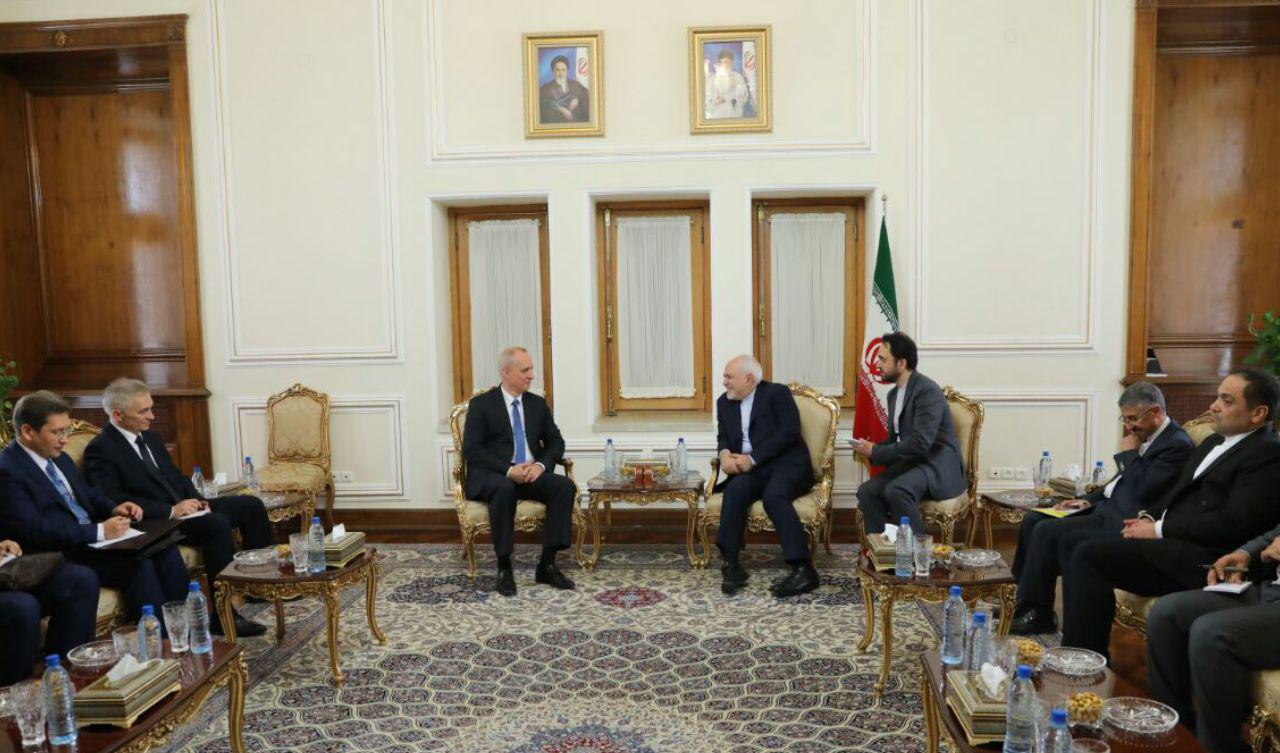 ملاقات معاون منطقهای وزیر امور خارجه بلاروس با ظریف