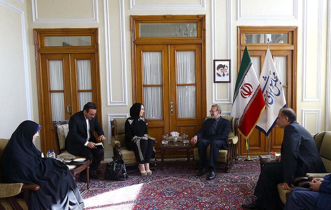 لاریجانی با رئیس اتحادیه بین المجالس دیدار کرد
