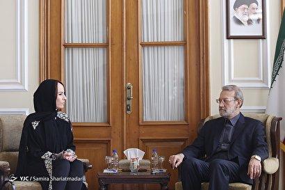دیدار رئیس اتحادیه جهانی بینالمجالس با لاریجانی