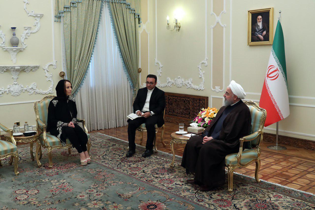 دیدار رئیس اتحادیه بینالمجالس جهانی (IPU) با حجتالاسلام روحانی