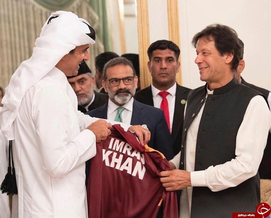 هدایای جالبی که امیر قطر و نخست وزیر پاکستان به هم اهدا کردند + عکس