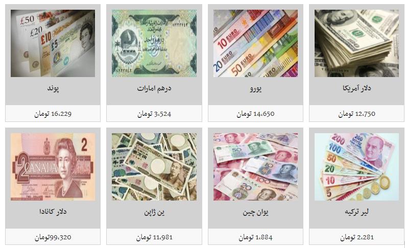 جدیدترین قیمت تمامی ارزها در بازار/ دلارهمچنان به قیمت ۱۲ هزار و ۷۵۰ تومان است