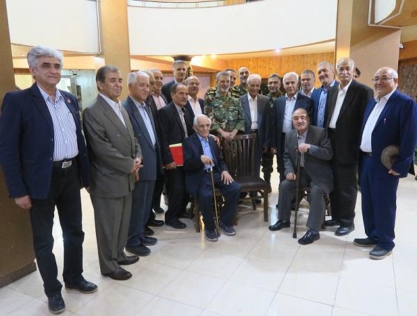 باشگاه خبرنگاران -دیدار امیر موسوی با پیشکسوتان ارتش