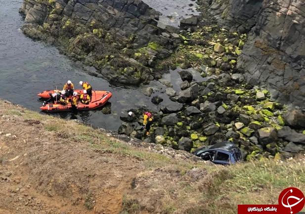 زنده ماندن باورنکردنی راننده پس از سقوط از ارتفاع ۴۸ متری! + تصاویر///