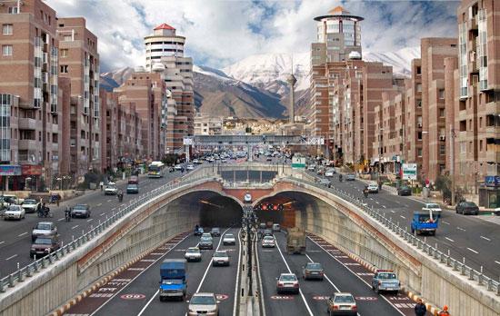 ترافیک صبحگاهی معابر بزرگراهی پایتخت در ۲۳ تیرماه