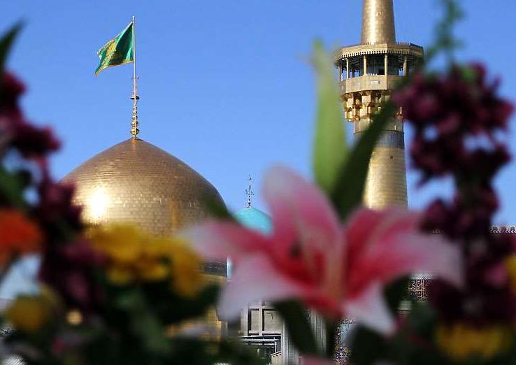 حال و هوای مشهد در روز تولد امام مهربانی ها/طلای گنبد تو ، وعده گاه کبوترهاست