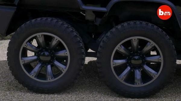 هامر ۶ چرخ H2 طعنهای به شاسی بلندهای معمولی +تصاویر