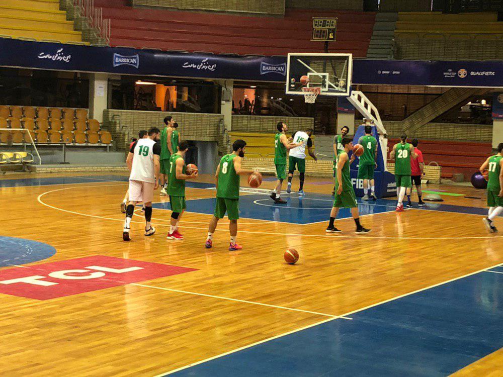 تمرین تیم ملی بسکتبال برگزار شد