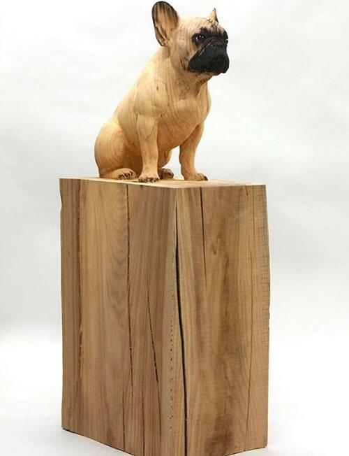مهارت خیره کننده هنرمند اسپانیایی در ساخت مجسمه چوبی +تصاویر