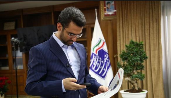 قطعی موبایل وزیر ارتباطات حین مصاحبه رادیویی +صوت
