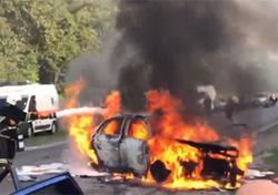 تصادف شاخ به شاخ، عاقبت رانندگی جنون آمیز در لاین مخالف + فیلم