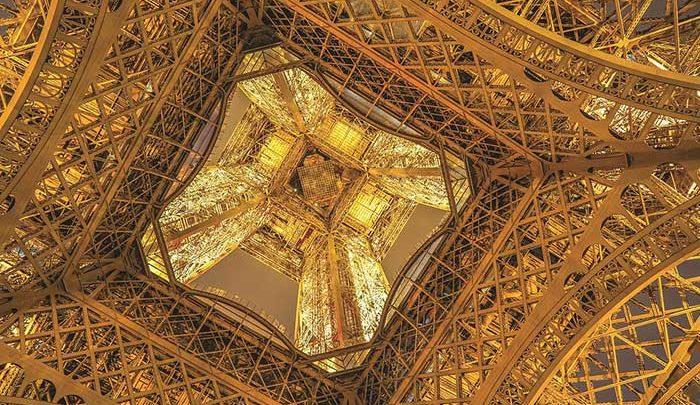 نمایی متفاوت و زیبا از برج ایفل +عکس