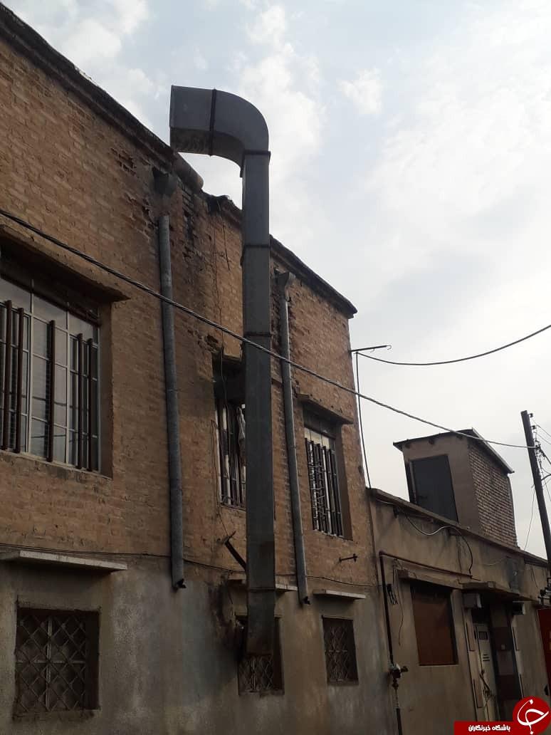 وزش باد شدید در فسا حادثه آفرید/آتش سوزی تیر برق در فسا + تصاویر
