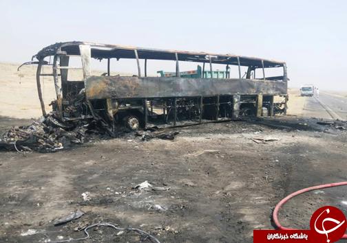 حادثه تلخ برای اتوبوس مسافربری/۷ نفر در دم جان باختند/ اعزام یک بالگرد به منطقه