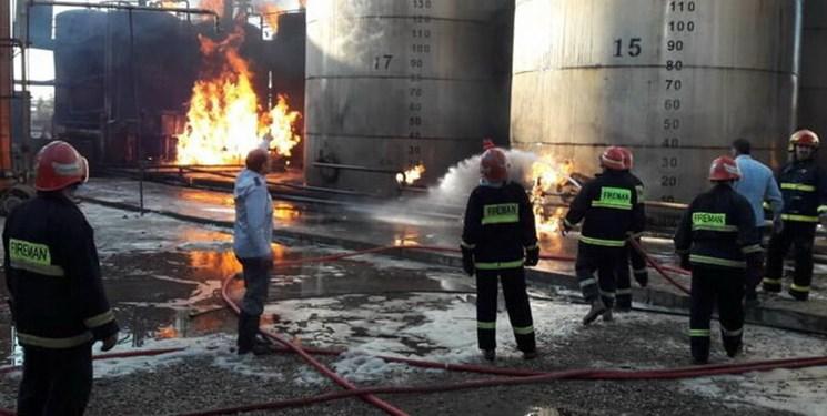 ۴ کشته و مجروح بر اثر حریق کارخانه صنعتی در پردیس
