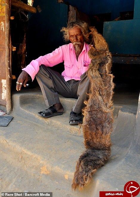 موهای عجیب مرد هندوستانی سوژه رسانه ها شد! + تصاویر///پنجشنبه صبح