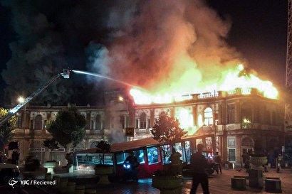آتشسوزی در میدان حسنآباد