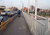 باشگاه خبرنگاران -تصرف پیادهرو توسط موتورسیکلتها در اهواز + فیلم