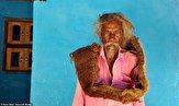موهای عجیب مرد هندوستانی سوژه رسانه ها شد! +تصاویر