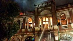 آخرین فیلم از بافت تاریخی میدان حسنآباد پس از مهار آتشسوزی