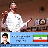 مدال خوش رنگ نقره برگردن جودوکار ایران
