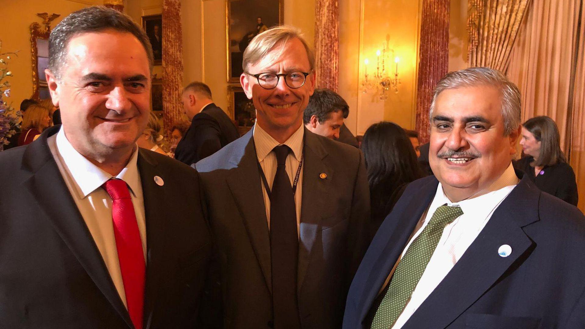 دیدار علنی وزیر خارجه بحرین با همتای صهیونیست خود برای نخستینبار