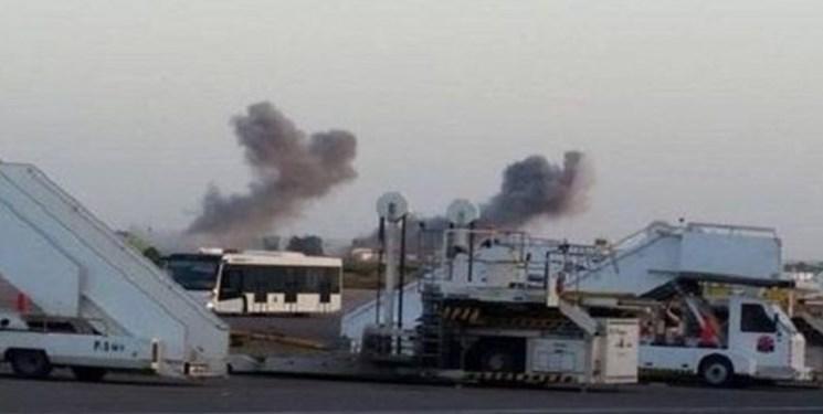 حمله موشکی به فرودگاه المعیتیقه طرابلس