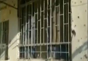 آثار به جای مانده از حمله خمپارهای تروریستها + فیلمحمله خمپارهای تروریستها به خانههای مردم در شهر محرده سوریه + فیلم