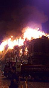 باشگاه خبرنگاران -فیلمی از آتشسوزی در میدان حسنآباد