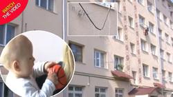 نجات باورنکردنی کودک ۱۱ ماهه پس از سقوط روی بند رخت! +فیلم