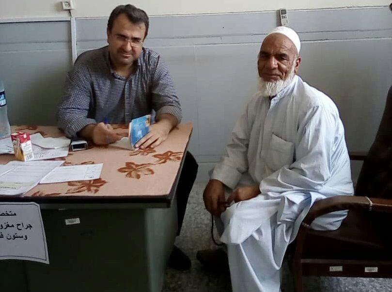 ویزیت رایگان حدود ۵۰۰ نفر در روستای کلینک ایرانشهر