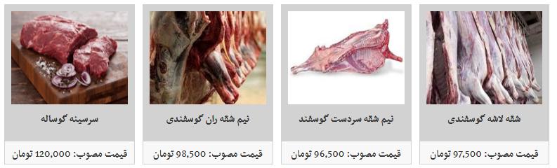 انواع گوشت تازه گوساله و گوسفندی داخلی کیلویی چند؟ + قیمت