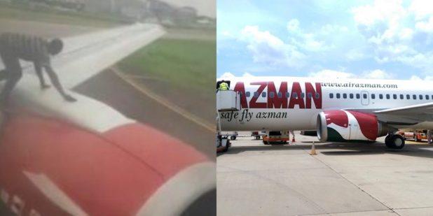 اسپایدرمن نیجریهای چند دقیقه پیش از برخاستن هواپیما بر روی بال آن پرید + تصاویر