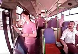رفتار عجیب دختر جوان در اتوبوس که به مرگش منتهی شد +فیلم