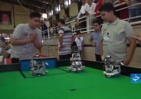 درخشش دانش آموزان قزوینی در مسابقات بین المللی ربوکاپ + فیلم