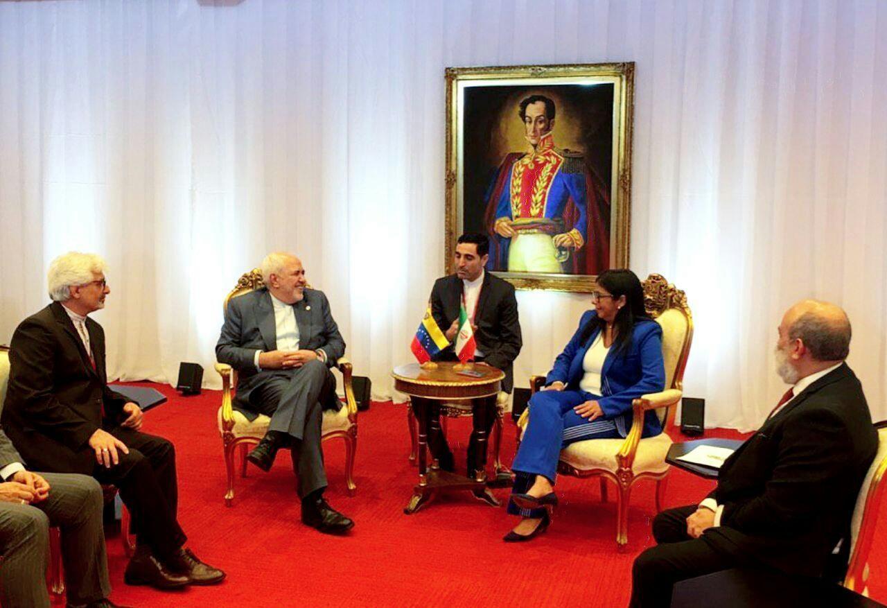 دیدار ظریف با معاون اول رئیس جمهور ونزوئلا