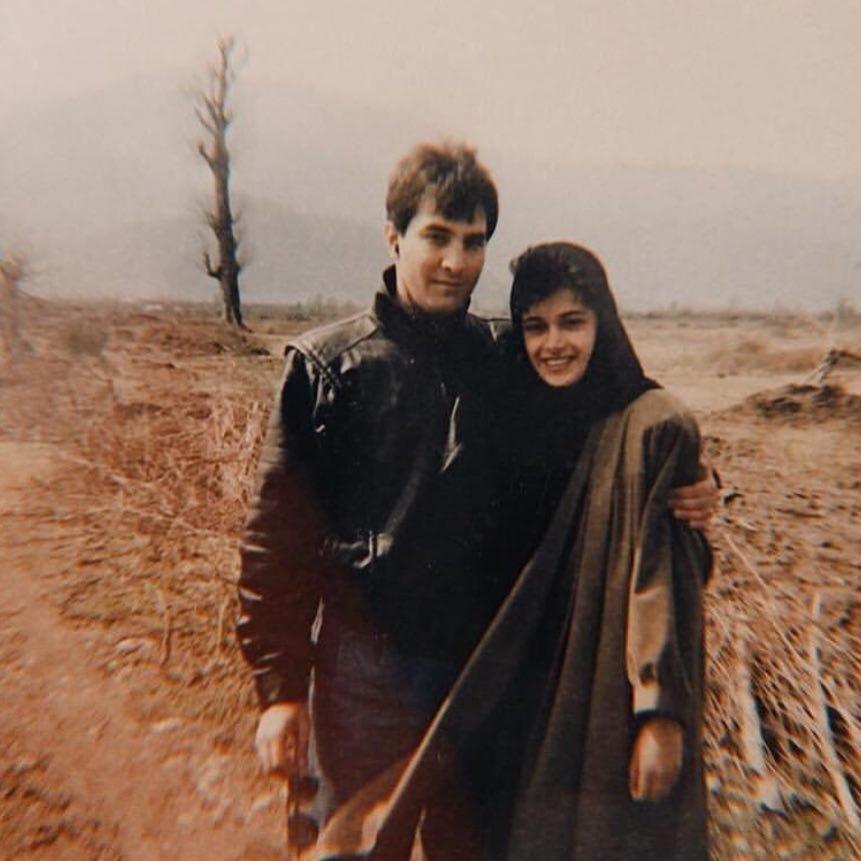 تصویری دیدنی از ایرج نوذری و همسرش در ۳۰ سال پیش
