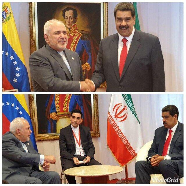 رایزنی ظریف با مادورو دیدار کرد