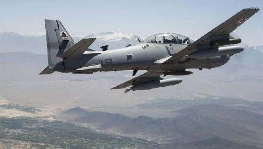 حمله نیروهای هوایی ارتش افغانستان به یک تجمع بزرگ طالبان در فاریاب