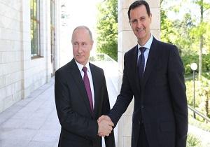 پوتین ۷۵ سالگرد روابط دیپلماتیک دو جانبه را به اسد تبریک گفت