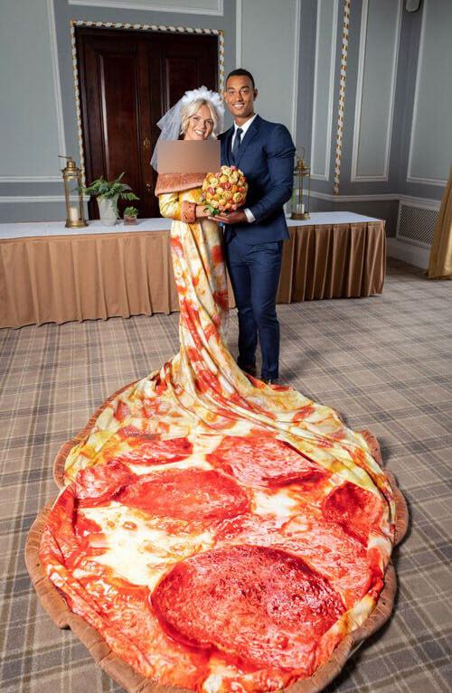 لباس عروسی عجیب، اما خوشمزه برای عروس خانم ها+تصاویر